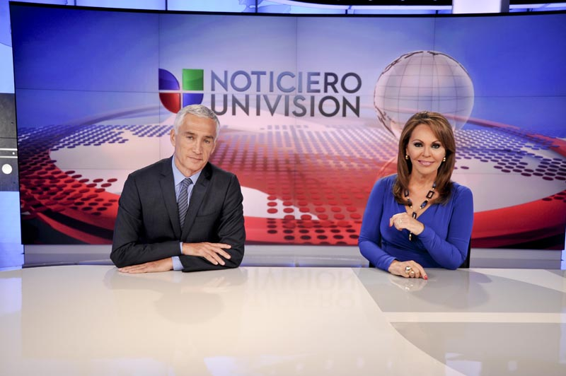 Jorge Ramos and María Elena Salinas inaugurated a new set in January