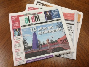 Al Dia 10- year anniversary paper