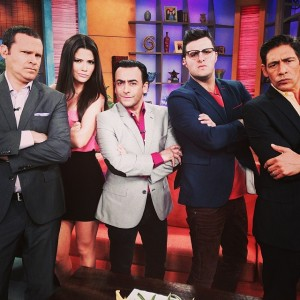 Paul (with the glasses, second from right) has previously been a guest on the morning show.
