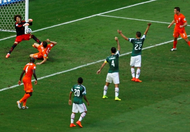 Mexico-Netherlands world cup screenshot