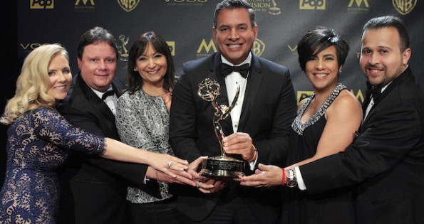BURBANK - APR 26: Un Nuevo Día at the 42nd Daytime Emmy Awards Gala at Warner Bros. Studio on April 26, 2015 in Burbank, California