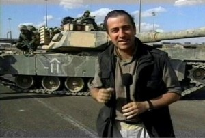 Pablo reporting from Baghdad, during the Iraq invasion.