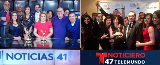 Telemundo and Univision NY win newscast Emmys