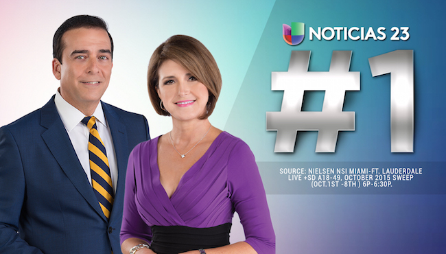 Univision breaks Telemundo's ratings streak in Miami