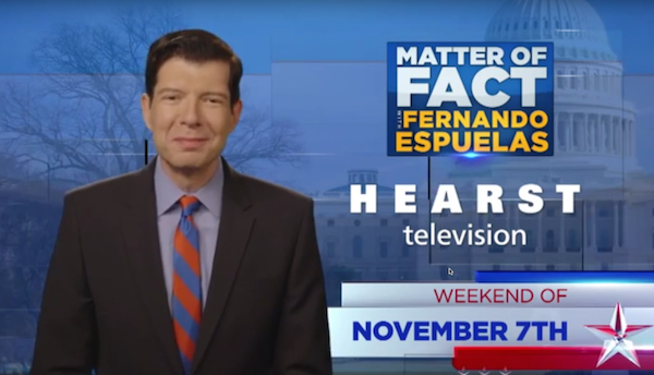 """Hearst TV launches Espuelas' """"Matter of Fact"""""""