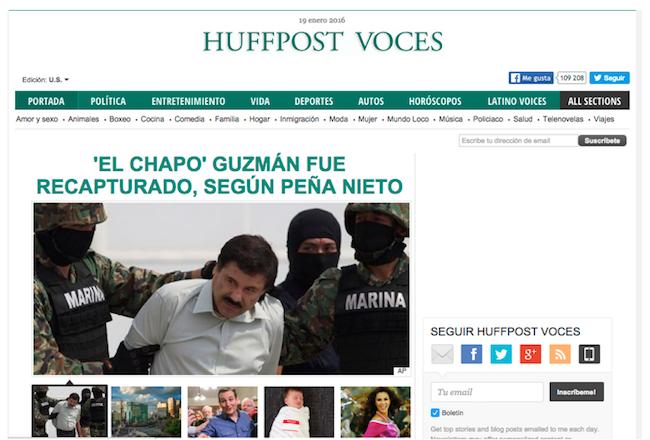 Huffington Post shuts down Voces
