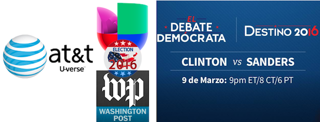 AT&T Uverse blackout lifted to air Univision's Democratic debate