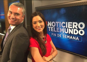 Felicidad Aveleyra , who was co-anchoring weekends with Del Villar will now share the desk with Vélez.