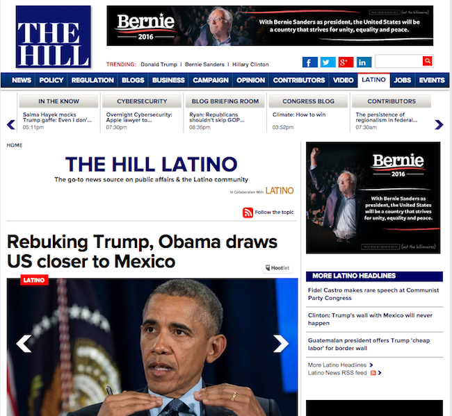The Hill debuts Latino section