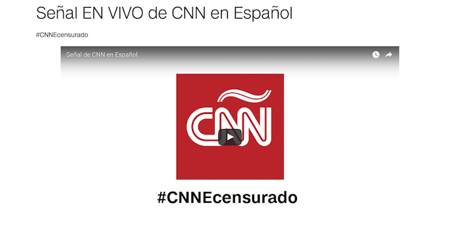 CNN en Español offers YouTube livestream After Venezuela bans signal