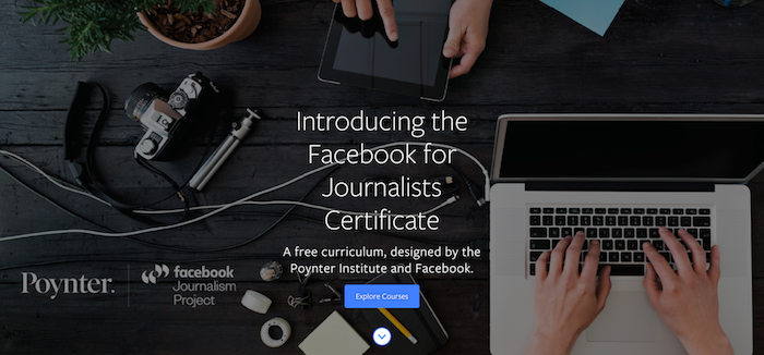 Facebook and Poynter launch joint journalism online training program