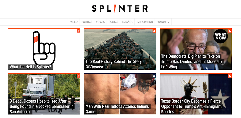 Fusion relaunches website rebranded as Splinter
