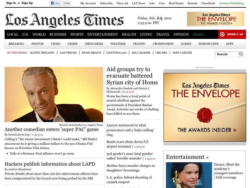 LA Times goes behind paywall