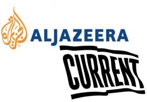 Al Jazeera and Current TV logos