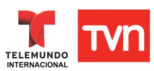 Telemundo Internacional and TVN logos