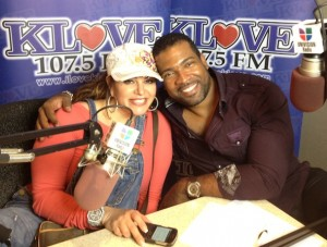 Carlos with Jenni Rivera after a radio interview at KLOVE in September of 2012.