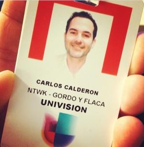 """Carlos tweeted this photo, saying he was happy to be back at """"El Gordo y La Flaca."""""""