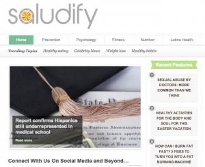 Saludify-frontpage
