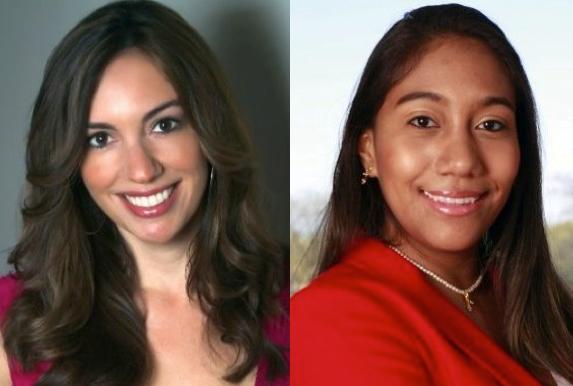 Melissa Gonzalo (left) and Carolina Cruz are the winners of the Media Moves/Hispanicize contest.