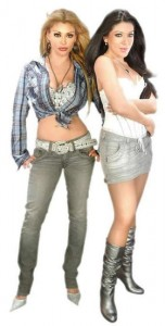 "Sisters Vicky and Marisol Terrazas star in the reality show ""Horóscopo."""