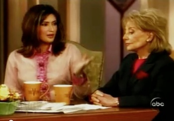 Naibe Reynoso with Barbara Walters
