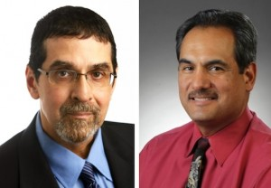David González (left) and Gilbert Bailón will be inducted into the NAHJ Hall of Fame on August 26.