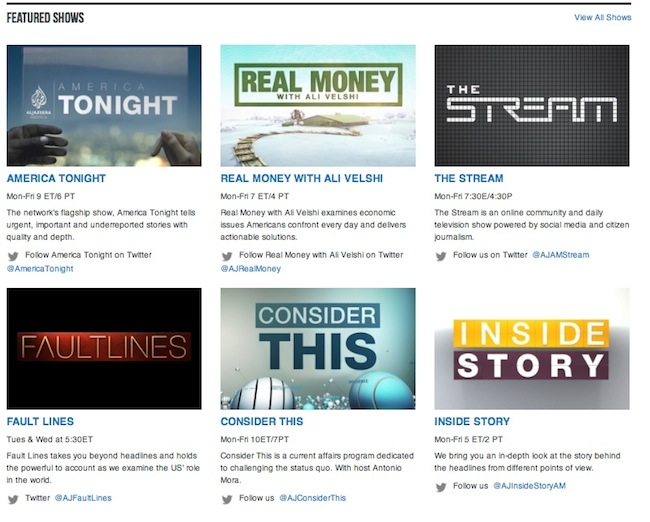"""Among the featured shows, """"Consider This,"""" hosted by Antonio Mora and """"The Stream,"""" where Julio Varela is a producer."""