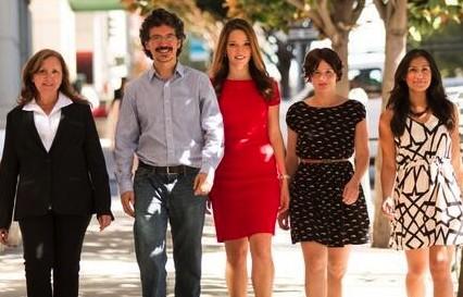 The CNET en Español team (from L to R): Gabby Medecki, Gabriel Sama, Vanessa Hand Orellana, Marta Franco and Erica Argueta.