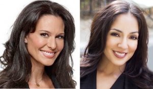 Alycia Lane (L) was replaced by Michelle Valles as NBC4's morning co-anchor.