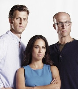 """Billy Scafuri, Rebecca Delgado Smith and Adam Lustick are the hosts of """"Sports Talkers."""""""