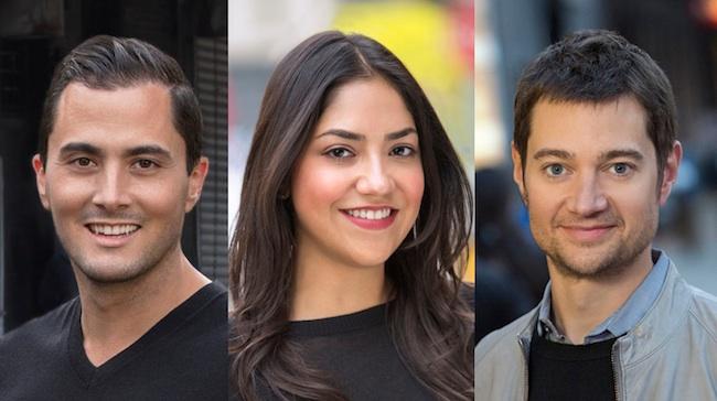 Jose Antonio Hernandez,  Clarissa Colmenero and Chad Blankenship (L to R).