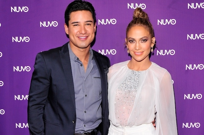 Mario Lopez and Jennifer Lopez Nuvo 2014