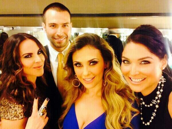 Actors Kate del Castillo, Rafael Amaya, Araceli Arámbula and Blanca Soto at the Telemundo 2014 upfront. (Photo: @michmoran)