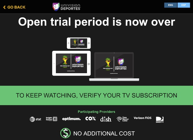 Univision video streaming app