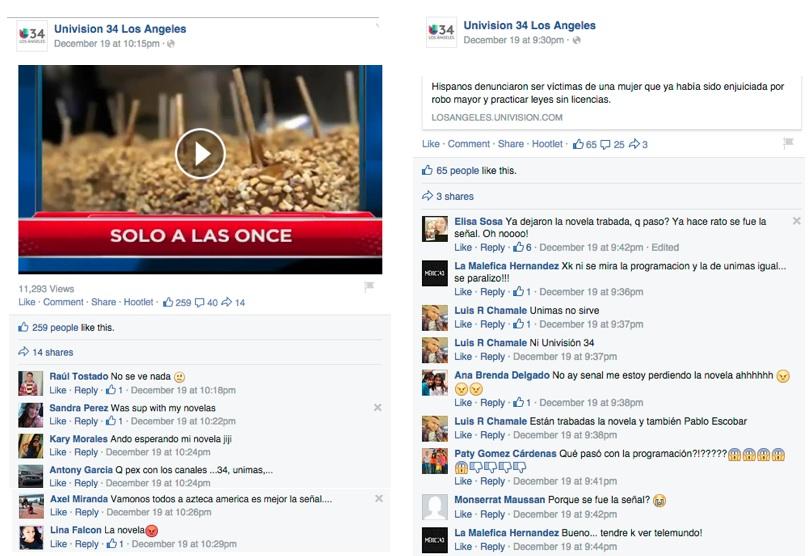 Univision blackout comments