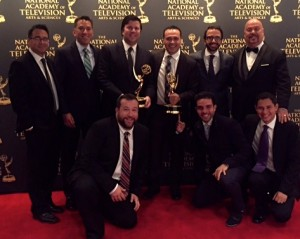 The Univision Deportes team celebrates two SportsEmmy2015