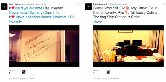Vandalism tweets
