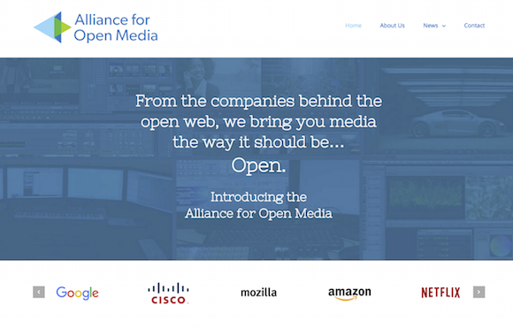 Alliance Open Media Home page