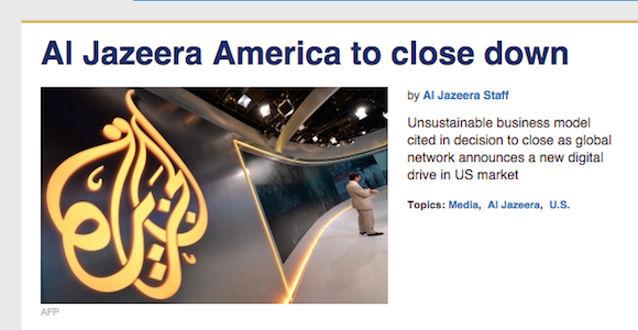 Al Jazeera shut down message web
