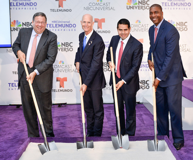 Telemundo headquarters groundbreaking