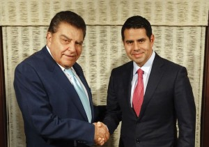 Don Francisco and Cesar Conde