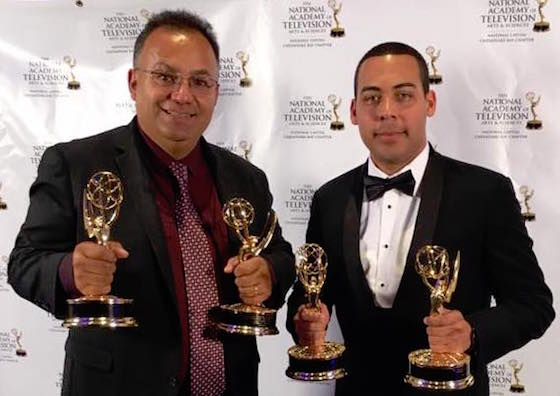 Edwin Pitti (R)  won 3 of WFDC's 5 Emmys. He shared two of those wins with Raúl Ramos (L).