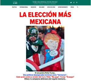 HuffPost Mexico homepage launch