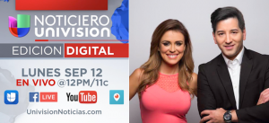 Noticiero Univision Digital Carolina Sarassa Javiier Olivares