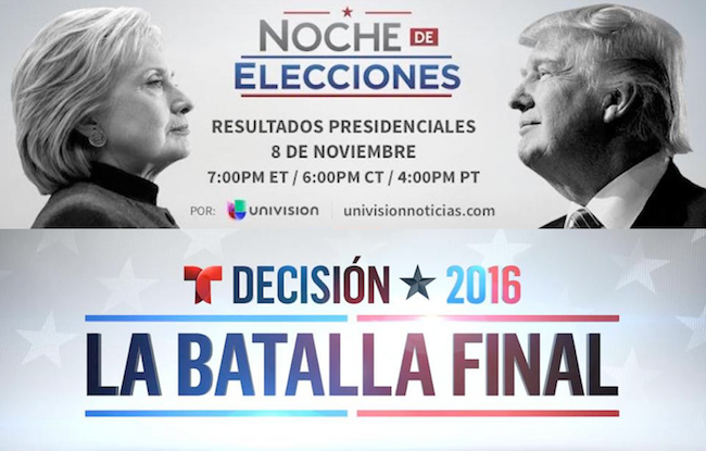 Univision election coverage reaches 10.1 million; Telemundo attracts 5.3M