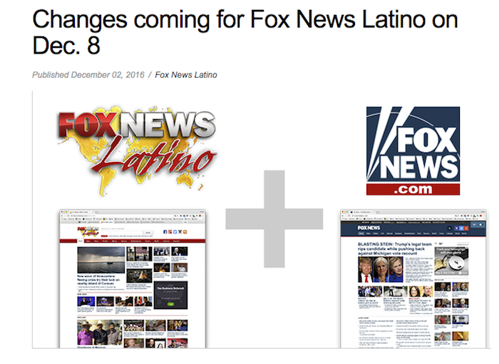 Fox News Latino changes announcement