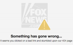 Fox News Latino 404 error message