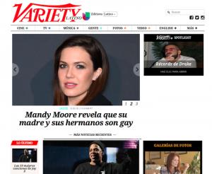Variety Latino homepage