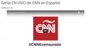 CNN Espanol en vivo censura Venezuela