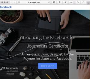 Facebook Journalism Course